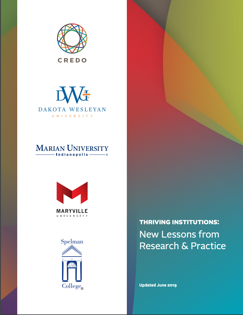 Thriving Institutions 2019 Cover