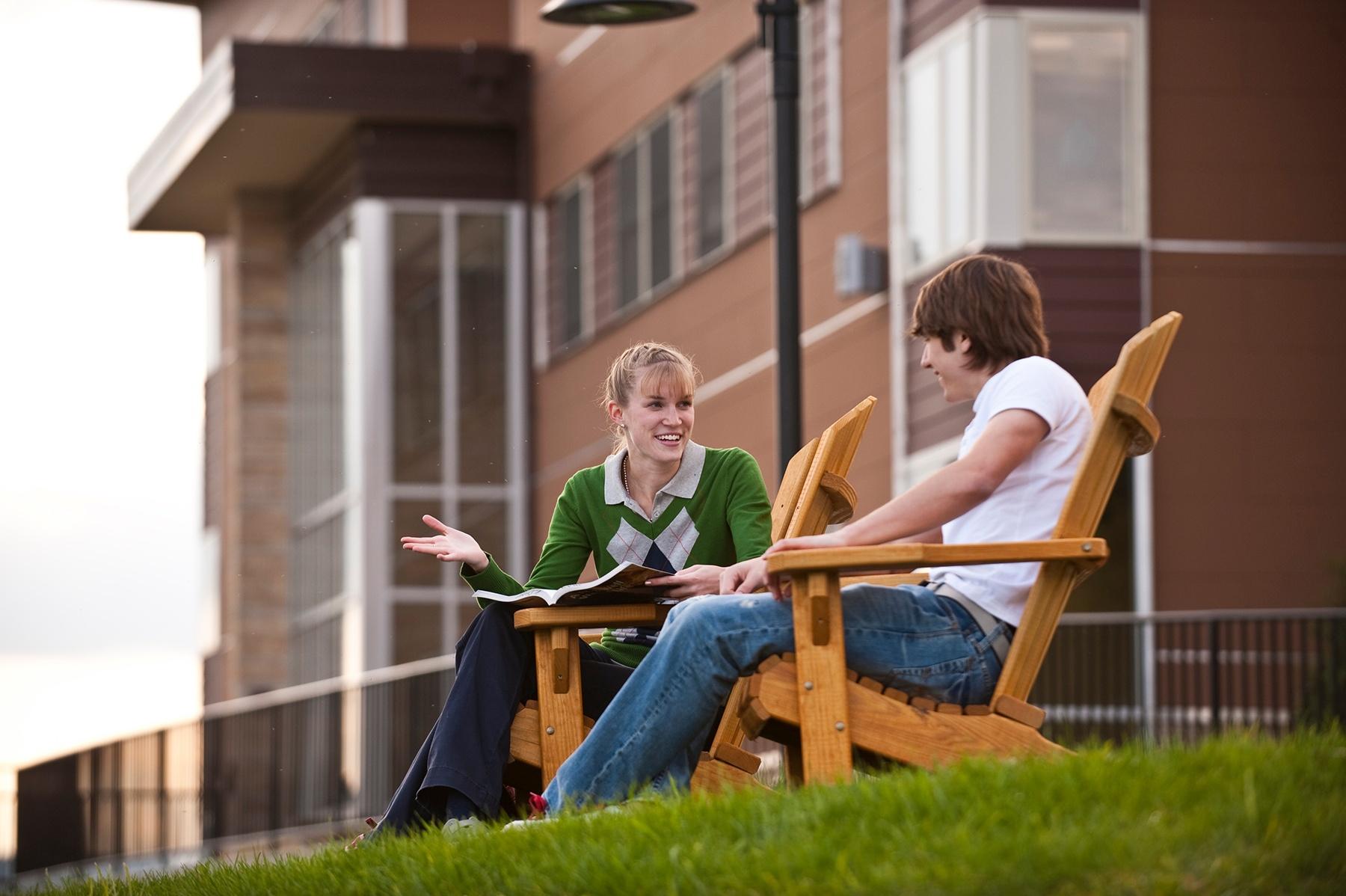 Alvernia Village Apartments - Students Outside.jpg